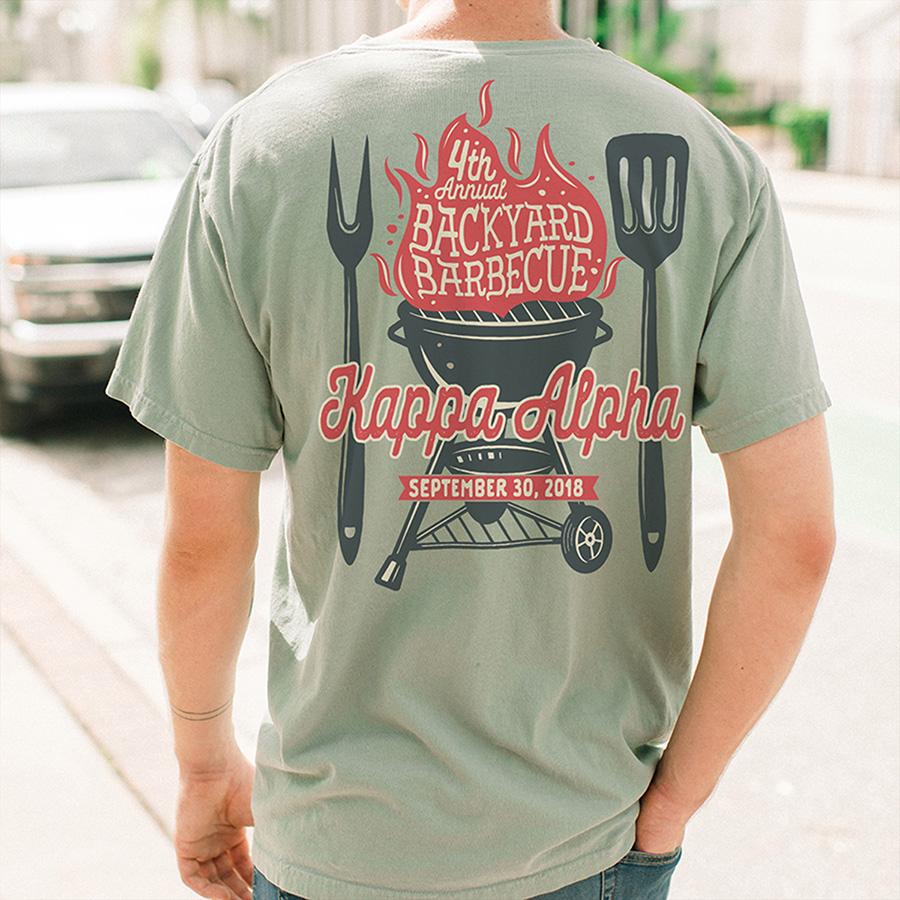 BBQ T-shirt Backyard Grill
