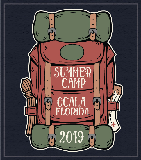 Backpack Summer Camp T-shirts