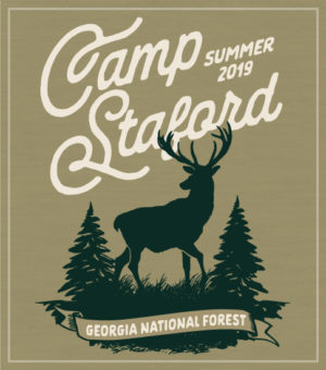 Stag in Forest Summer Camp T-shirt