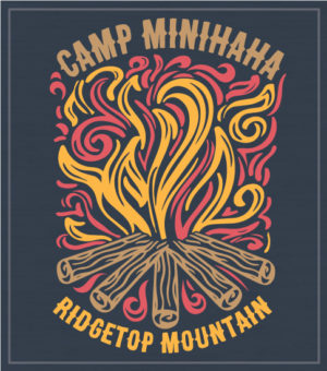 Summer Camp T-shirts with Campfire