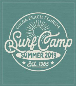 Surf Camp T-shirt Retro Logo