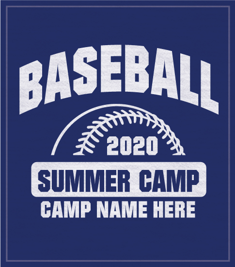 Baseball Camp T-shirt Half Ball
