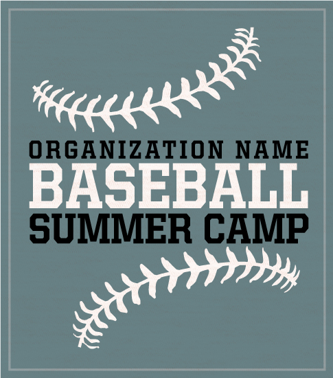 Baseball Camp T-shirt with Stitches