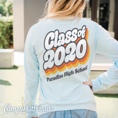 Class of 2020 Seventies Style T-shirt