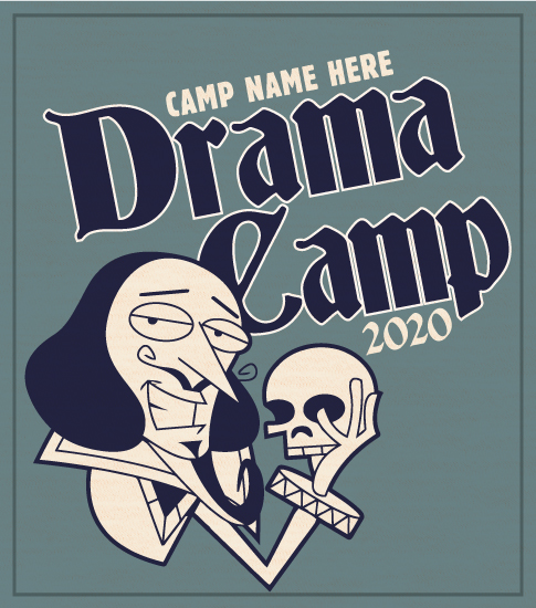 Drama Camp Shirt with Shakespeare