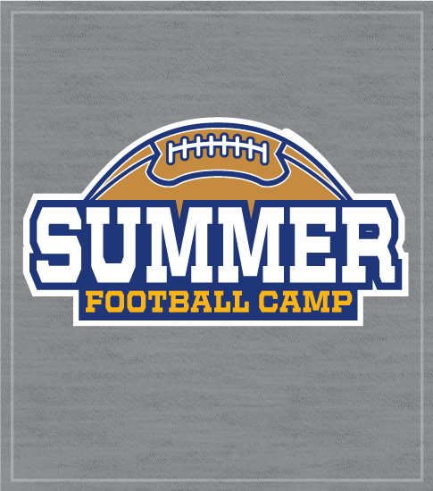Football Camp T-shirt with Half Ball