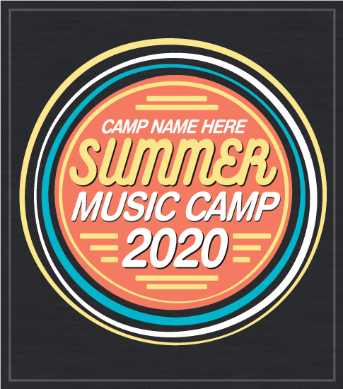 Music Summer Camp T-shirt Orange