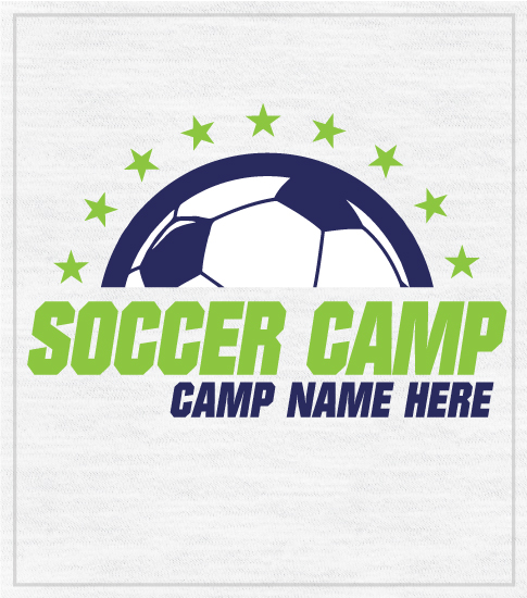 Summer Soccer Camp T-shirts Lime Green