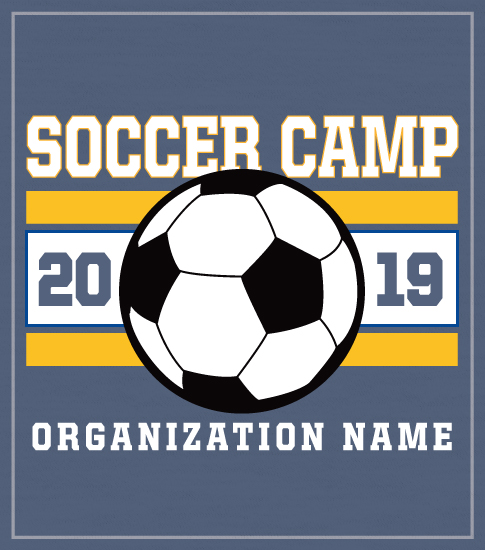 Stripe Soccer Summer Camp T-shirt