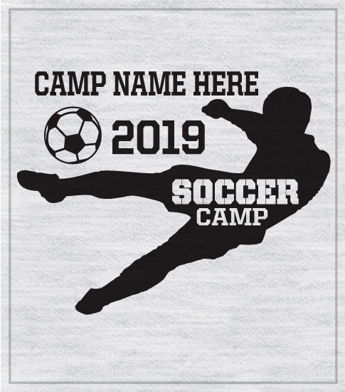 Summer Soccer Camp t-shirts with Silhouette