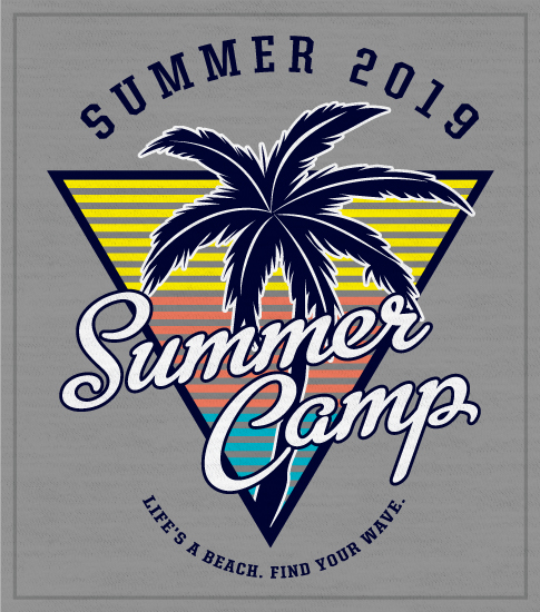 Summer Camp T-shirt Palm Tree