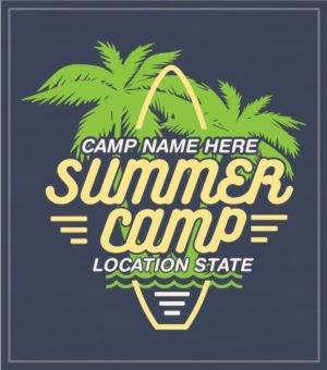 Summer Camp Surfboard T-shirt
