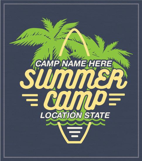 Summer Camp Surfboard T-shirt