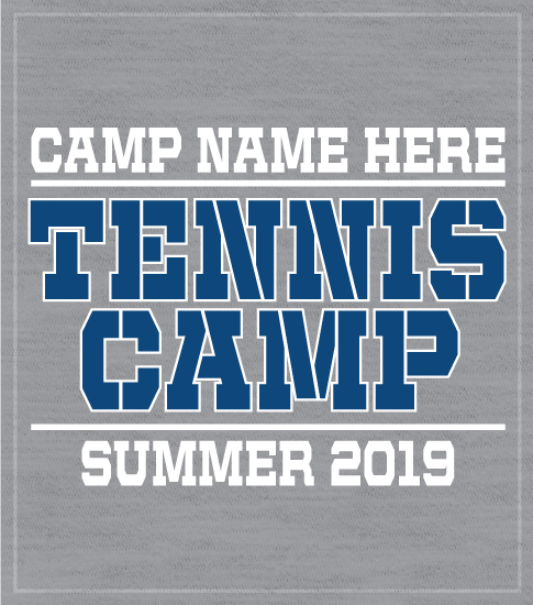 Gray Tennis Summer Camp T-shirt