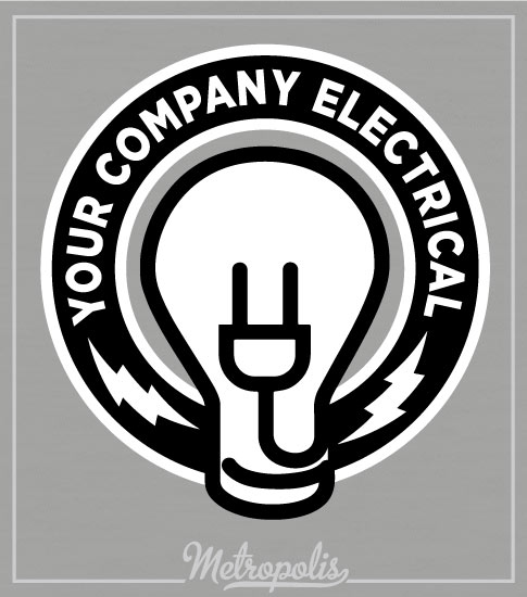 Electrician Shirts Gray Bulb